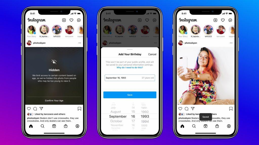 Instagram app account user birthday information