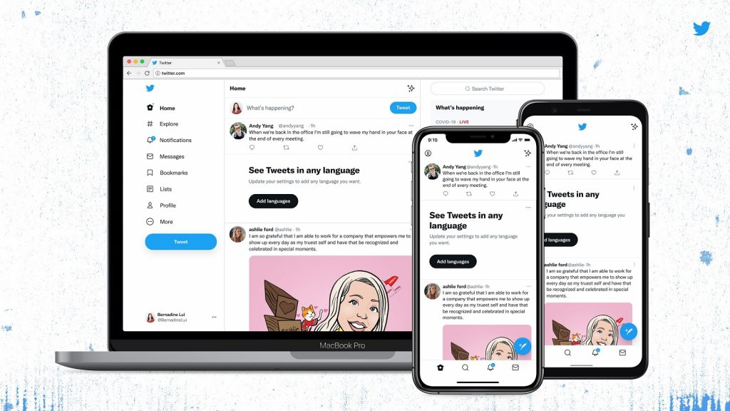 Twitter app design facelift font typeface Chirp tweets text