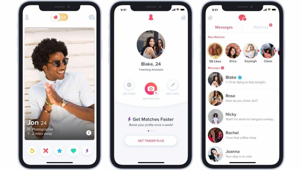 Tinder app dating user profile ID verification