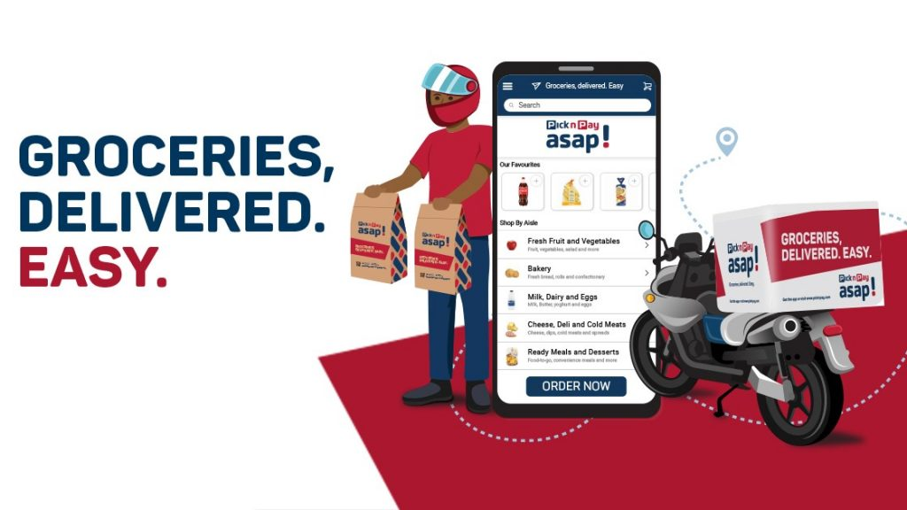 pick n pay asap grocery delivery app