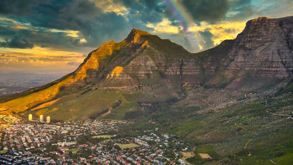 Cape Town dam levels cold front rainfall