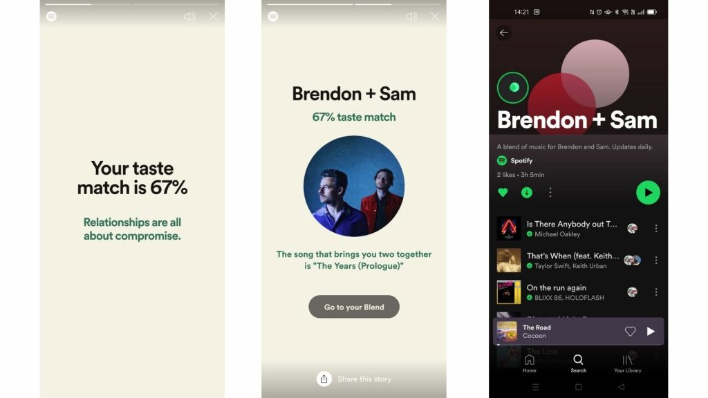 Spotify Blend Playlist users free Premium subscribers