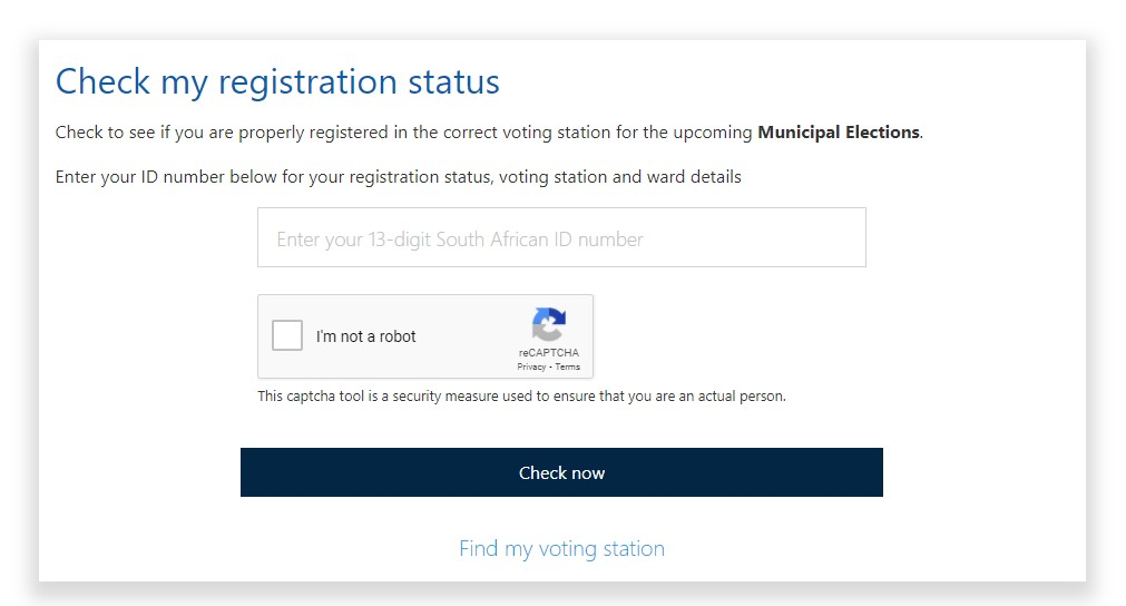 check registered to vote south africa
