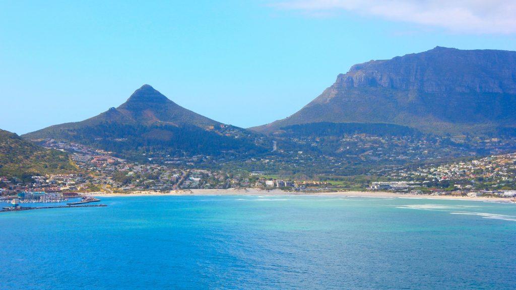 Hout Bay Beach Cape Town sand nets