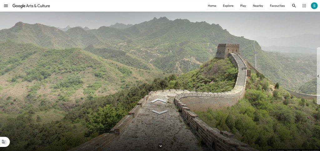 Google Great Wall of China virtual tour