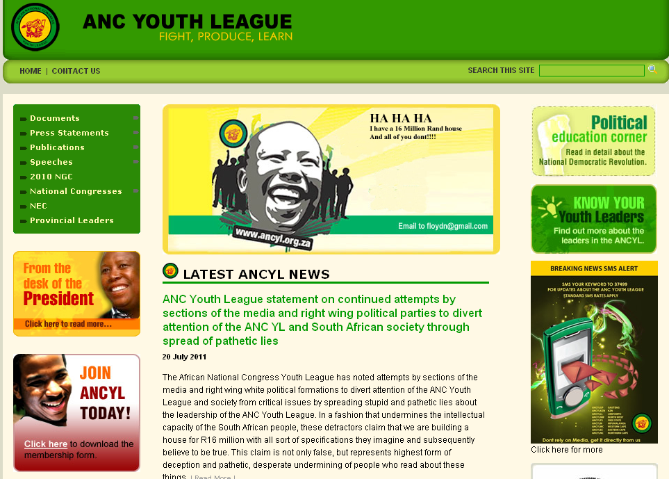 ANC Youth League hack