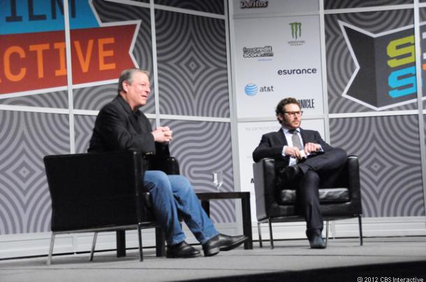 Al Gore and Sean Parker