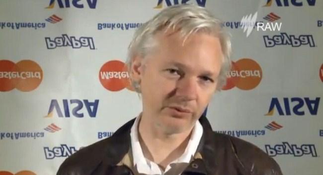 Julian Assange Accepts Walkley Award