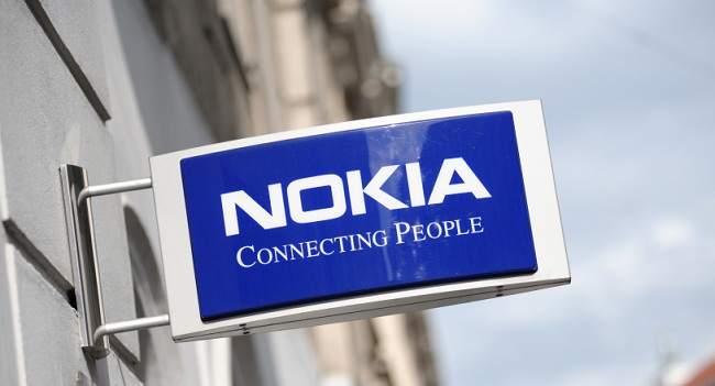 Sign of the NOKIA store in Helsinki