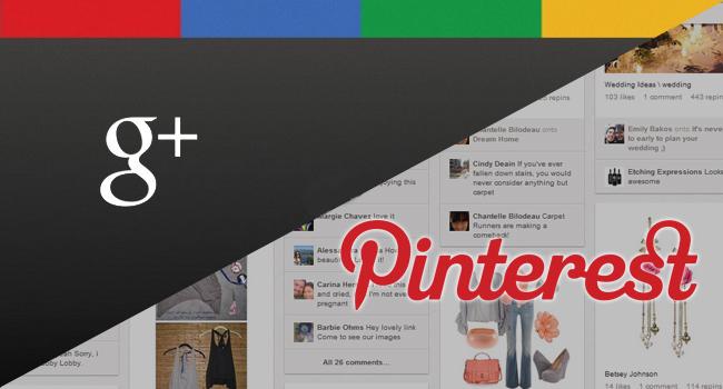 google plus vs pinterest