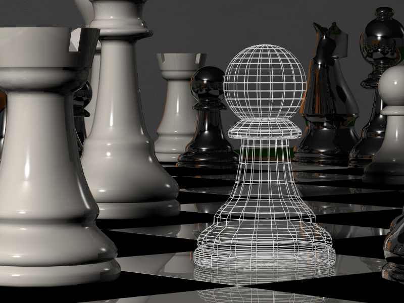 Wireframe chess