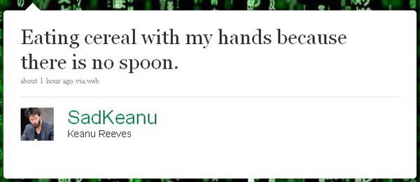 Sad Keanu Tweet