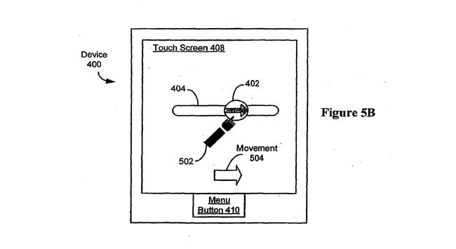 slide to unlock patent diagram